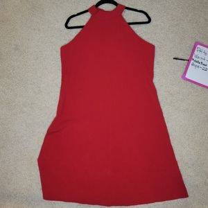 Evan Pioneer Size 12 Red Halter Dress w/ back bow